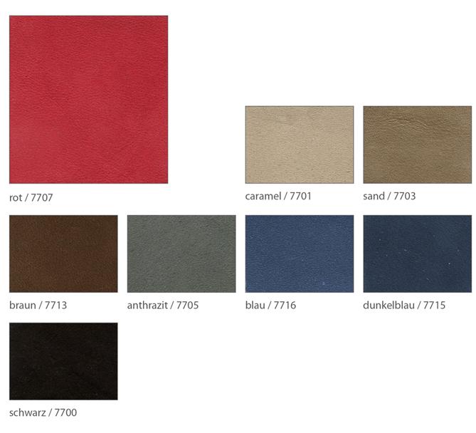Ledervarianten für maßswchuhe Foto der einzelnen Leder in Nubuk