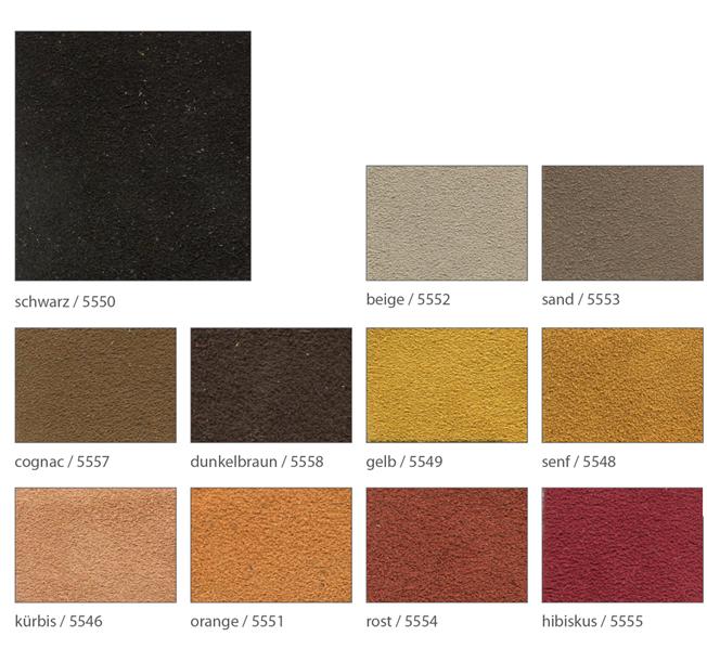 Ledervarianten für maßswchuhe Foto der einzelnen Leder in Velour