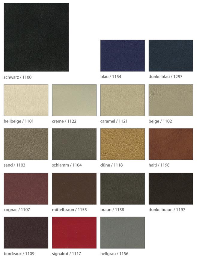 Ledervarianten für maßswchuhe Foto der einzelnen Leder in Softnappa