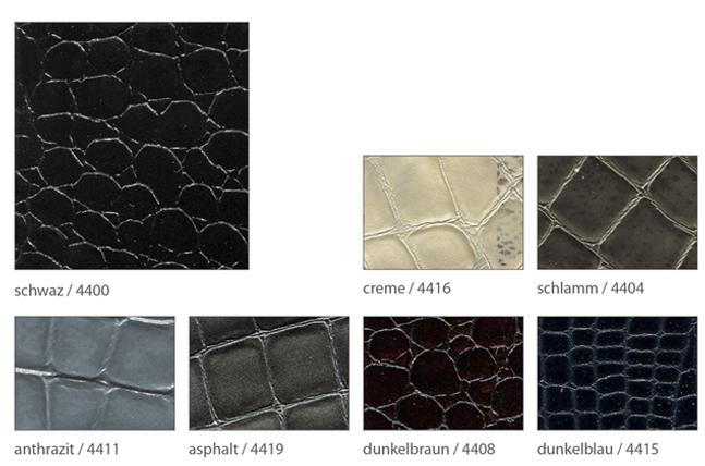 Ledervarianten für maßschuhe Foto der einzelnen Leder in Kroko