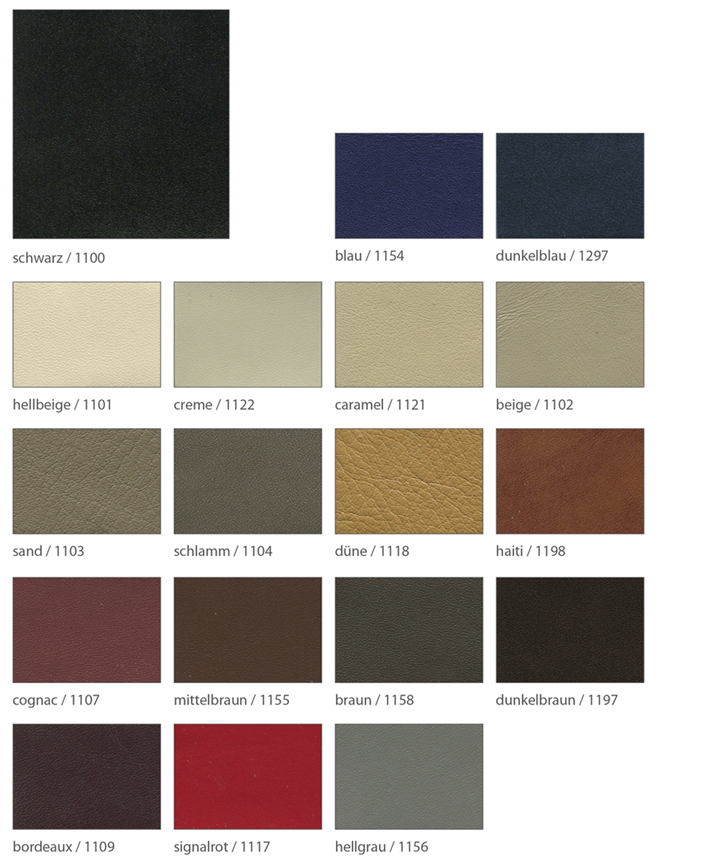 Ledervarianten für maßschuhe Foto der einzelnen Leder in Softnappa
